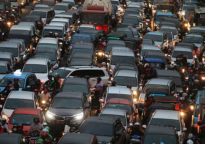 ジャカルタの渋滞